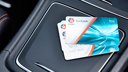 Starcash pre-paid petrol card